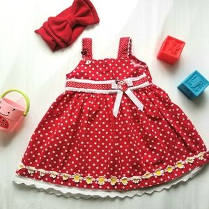 Blueberi Boulevard Red Polka Dot Ladybug Dress